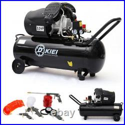 100 Litre Air Compressor 3.5HP 14.6CFM Engine Workshop with 5 Piece Air Tool Kit