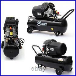 100L Litre Air Compressor 3.5HP 8BAR 14.6CFM Engine with Compressor Gauge Wheels
