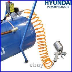 100L Ltr Litre Air Compressor Litre V-Twin 3hp 14cfm 115psi 8bar 5pc tool kit