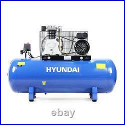 150L Ltr Litre Air Compressor 3hp 145psi 10bar 14cfm Belt Drive 2Cylinder