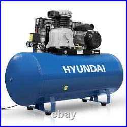 200L Ltr Litre Air Compressor Belt Drive 3hp 145psi 10bar 14cfm 2 cylinder