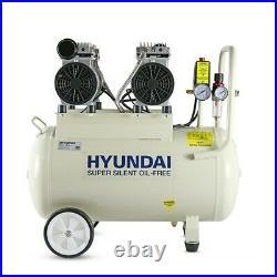 50L Ltr Litre Air Compressor Silent 2 x 750w 2HP 100PSI 7BAR Oil Free Portable
