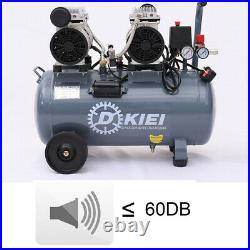 50L Whisper Compressors 3.5HP 9.6CFM Air Compressor 60dB Silent Oilless 50 Litre