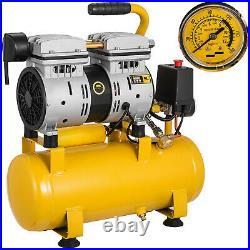 600W 9L Litre Air Compressor Oil Free 1HP 4CFM 116psi/8BAR Oilless 230V Portable