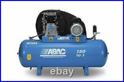 ABAC 150 Litre 3 Phase Belt Driven Compressor 3HP 10 BAR 13.8 CFM 2.2 KW