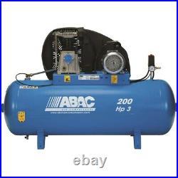 ABAC 200 Litre Belt Driven Air Compressor 3HP 10 BAR 13.8 CFM PRO A39B 200 FM3