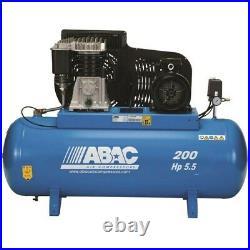 ABAC 200 Litre Belt Driven Air Compressor 5.5HP 11 BAR 23 CFM PROB5900B200FT5.5