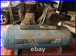 ABAC 270 LITRE air compressor 3 PHASE