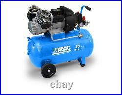 ABAC 50 Litre Direct Driven Air Compressor 3HP 10 Bar 12.5 CFM 2 Cylinder