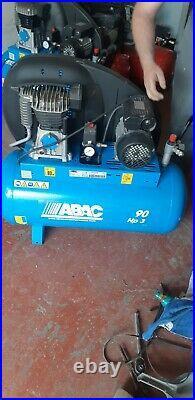 ABAC 90 Litre Belt Driven Air Compressor 3HP 10 BAR 11.2 CFM PRO A29B 90 CM3