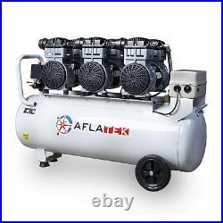 AFLATEK Silent compressor Pro 100 Liter oil free Low noise 71dB Air compressor