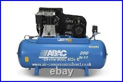 Abac Pro B5900B 200L FT5.5 3 Phase 23cfm 5.5HP 200 Litre Air Compressor inc vat