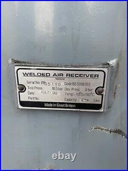 Air Receiver Tank 250 Litre Compressed Air Compressor Storage 11 Bar