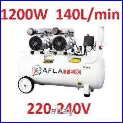 Air compressor oil free compact silent 50 liter 1200W 140L/min 230V