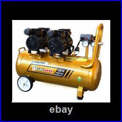 Air compressor oil free compact silent EXC 50 liter 1200W 150L/min 230V