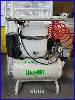 Bambi MD75/150 Silent Air Medical Dental Compressor 15 Litre Tank 78l/min 8 Bar