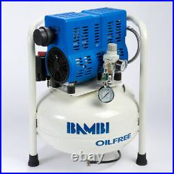 Bambi PT24 Compressor Ultra Low Noise Oil Free (24 Litres, 0.75 HP)