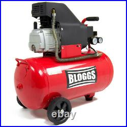 Bloggs Air Compressor 50 Litre 2.5hp 8bar 115psi 9.5cfm 230v 50L Ltr with Wheels