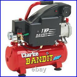 CLARKE BANDIT IV GARAGE TYPE AIR COMPRESSOR 230 volt 4.5CFM 8 Litre Tank 2241000