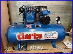 Clarke industrial air compressor 150 litre (new)
