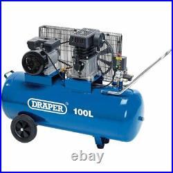 Draper 100 Litre Belt-driven Air Compressor (2.2kw)
