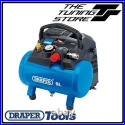 Draper 6 Litre Oil Free Small Compact Portable Air Line Compressor 1.5HP 02115