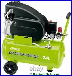 Draper Tools 05278 24 Litre 24L Air Compressor Direct Drive 2HP 8 Bar Workshop