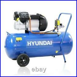 Hyundai HY30100V Air Compressor 14cfm 100-Litre V-Twin Direct Drive 240v