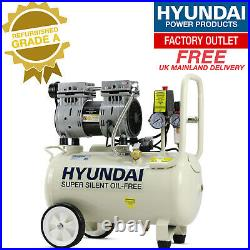 Hyundai HY7524 5.2CFM, 1HP, 24 Litre Oil Free Direct Drive Silenced GRADED