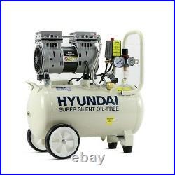 Hyundai HY7524 750w Silent Air Compressor 5.2cfm 24-Litre 240v