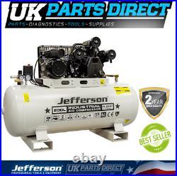 Jefferson 200 Litre 4HP Compressor 2 YEAR WARRANTY