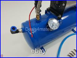 King Size Air Horn 12v 150db Car Boat Yacht With 150 Psi 6 Liter Air Compressor