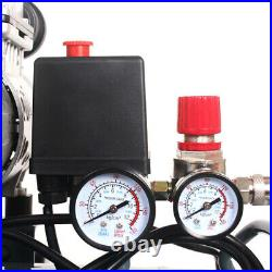 Low Noise Silent Air Compressor 240v 80 Litre 4.5HP With 5pc Air Tool Kit Oil Free