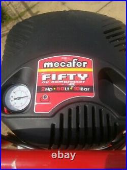 Mecafer 50 Litre 50L 2HP Vertical Air Compressor Oil Free Upright