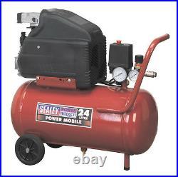 NEW Sealey Air Compressor 24Ltr Direct Drive 1.5hp 116 PSI 1/4 BSP 240v SA2415