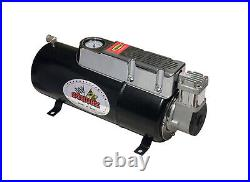 New 12v DC Truck Pickup On Board Air Compressor & 3.5 Liter Tank For Air Horns