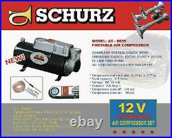 New 12v Truck Air Horn Air Compressor & 3.5 Liter Tank