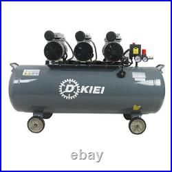 Oil Free Silent Air Compressor 120 Litre Low Noise (60dB) 4.5HP 115PSI +Wheels