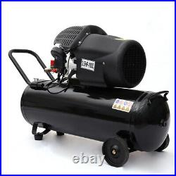 Portable 100L Litre Air Compressor 14.6CFM 3.5HP with Wheel