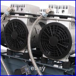 Portable Air Compressor 80 Litre 4.5HP 12CFM 230V Oilless Compressor Pump Silent