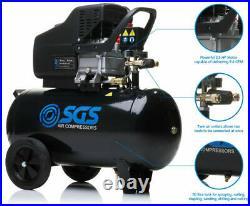 SGS 50 Litre Direct Drive Air Compressor 9.6CFM, 2.5HP, 50L