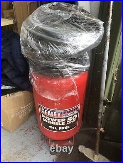 Sealey SAC05020 50 Litre 50L 2HP Vertical Air Compressor Oil Free Upright