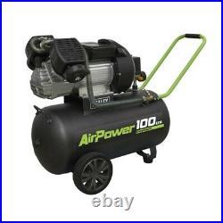 Sealey SAC10030VE Portable Compressor 100 Litre V-Twin Direct Drive 3hp 240v