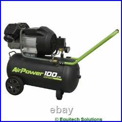 Sealey Tools SAC10030VE 100 Litre 100L 3HP Direct Drive Air Compressor V Twin
