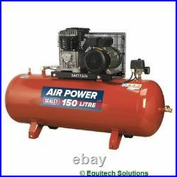 Sealey Tools SAC1153B Air Compressor 150 Litre 150L Belt Drive 3HP Cast Cylinder