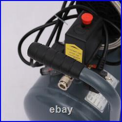 Silent 2.5HP Low Noise 25L Litre Air Compressor 8CFM Oil Free Workshop + Tools