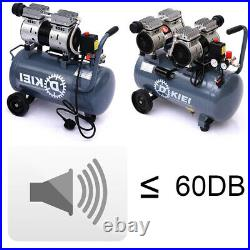 Silent 60dB 2.5HP 8CFM Air Compressor 25 Litre Horizontal Tank Oilless AIR TOOLS