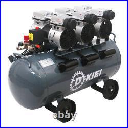 Silent Air Compressor 80L Litre 220V 4.5HP 11.2CFM Low Noise Oil Free Workshop