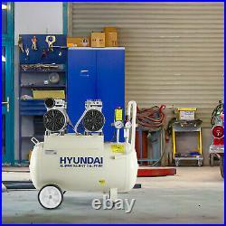Silent Air Compressor 8L 24L or 24L Litre Ltr Oil Free Range Options Hyundai