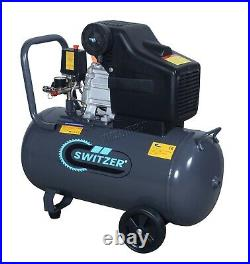 Switzer Mobile Air Compressor 50L Litre 2.5hp 8 BAR With 5PC Spray Kit AC004